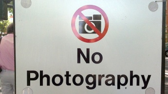 Check before hand whether photography is allowed or not. Image courtesy lifehacker.com