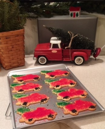 Dawn's Cut-out Christmas Truck Cookies