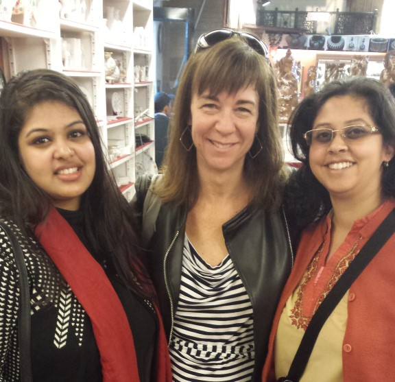 With bloggers Shambhavi and Jennifer