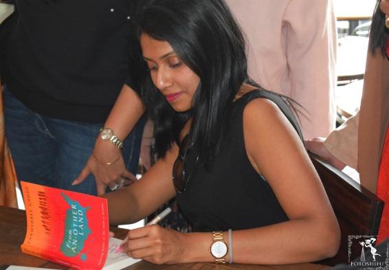 Tanushree Ghosh at her book launch in Chandigarh.
